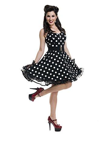 Charades Women's Pinup Polka Dot, Black, X-Large]()