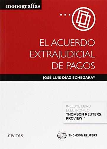 Descargar Libro Acuerdo Extrajudicial De Pagos,el José Luis Díaz Echegaray