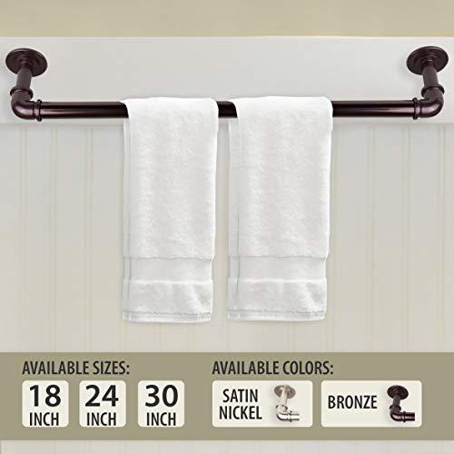 - Rod Desyne Industrial Pipe Design Towel Bar 18 inch Satin Nickel