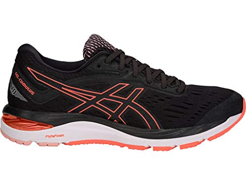 ASICS Women's Gel-Cumulus 20 Running Shoes, 8M, Black/Flash Coral (Asics Running Shoes Gel Flash)