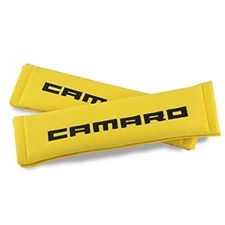 Camaro Seatbelt Harness Pad Black with Silver