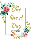 One Line A Day: A Cute Simple Green Gold Floral