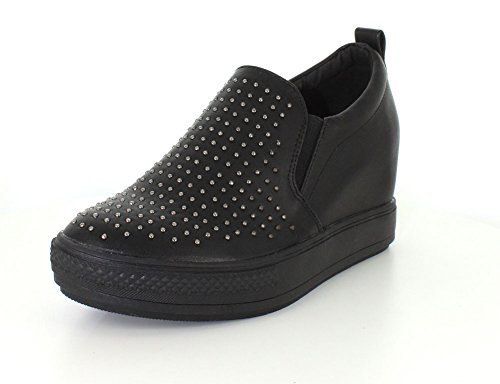 Wanted Torrey Slip On Wedge Fashion Sneaker Black 2uV8f9Co7