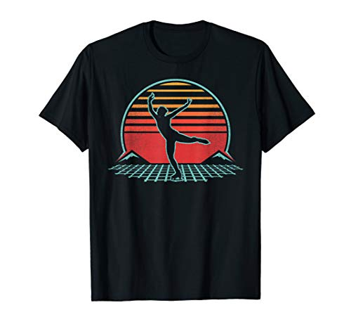 Figure Skating Retro Vintage 80s Style Ice Skating Gift T-Shirt
