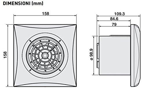 S /& P silent-100/ /Extracteur Bano silent100-silver-cz 8/W 2100RPM
