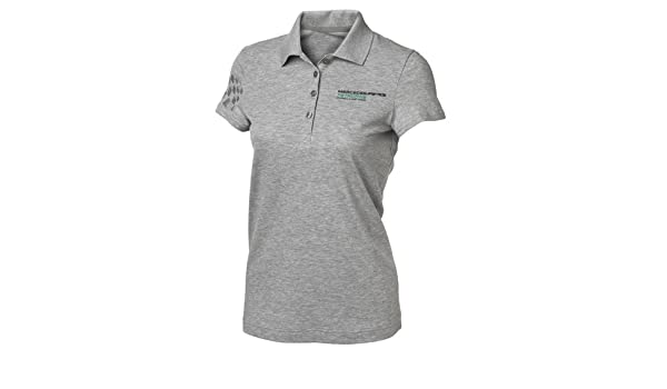 Mercedes AMG Petronas Womens Polo Pique Camiseta, Mujer, Gris, XS ...