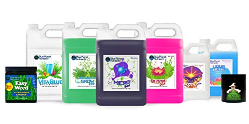 Blue Planet Nutrients Elite High Yield System | Hydroponic Aeroponic Coco Coir Soil Soil-Less | Grow Fruits, Vegetables, Herbs, Flowers, Bud | Complete Kit for Gardener