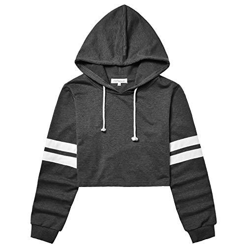 crop hooded sweatshirt - 4