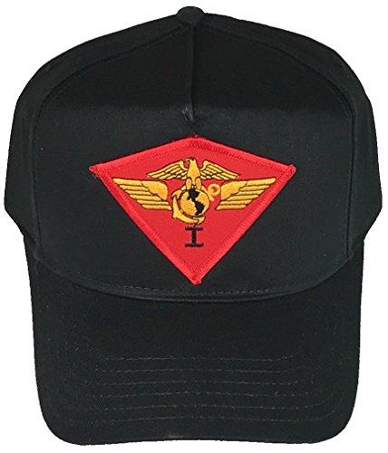 ee USMC 1ST Marine AIR Wing HAT - Black - Veteran Owned Business