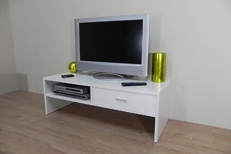 Azor - Mesa tv 120, medidas 120 x 50 x 40,5 cm, color blanco: Amazon.es: Hogar