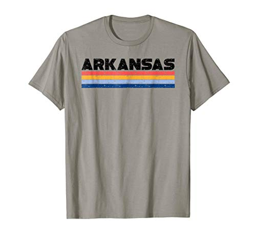 Arkansas Retro Shirt - Vintage Striped Colors