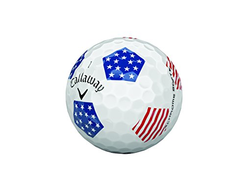 Callaway Tour Bags (Callaway Golf Chrome Soft 2018 Truvis Golf Ball (One Dozen), Limited Edition, Red, White and Blue)