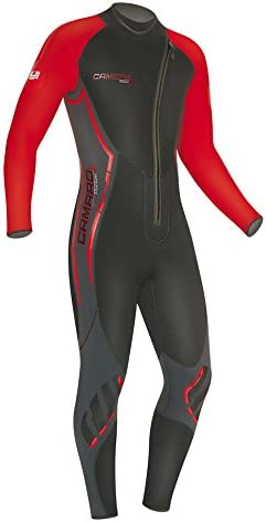 Camaro Mens Titanium Overall 5mm Wetsuits Black//Red Small//48