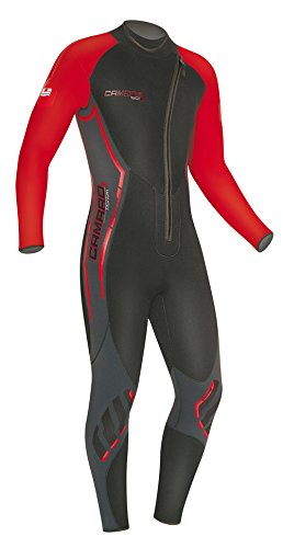 - Camaro Men's Titanium Overall 5mm Wetsuits, Black/Red, Large/52