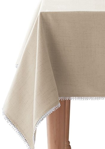 HomeCrate Luxurious French Perle Collection Solid Tablecloth 60