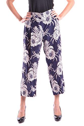 Prada Pantaloni Donna MCBI244033O Seta Blu