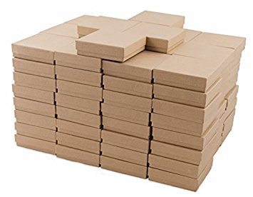 Kraft Cotton Filled Jewelry Box #33 (Case of 100) (Original Version) 100 Kraft Cotton Filled Jewelry