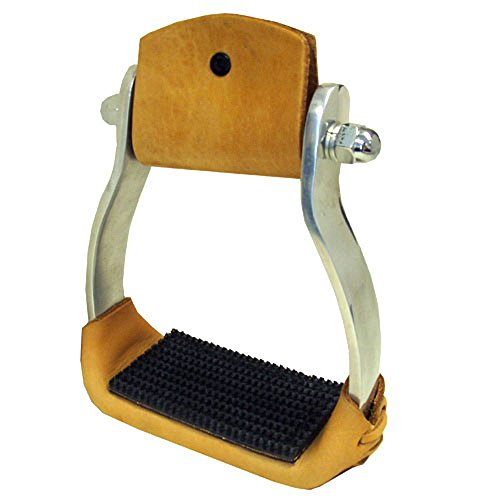 Intrepid International Aluminum Western Stirrups with Rubber ()