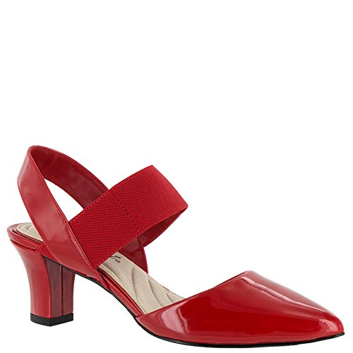 Easy Street Women's Vibrant Dress Pump, Red Patent, 7 M US