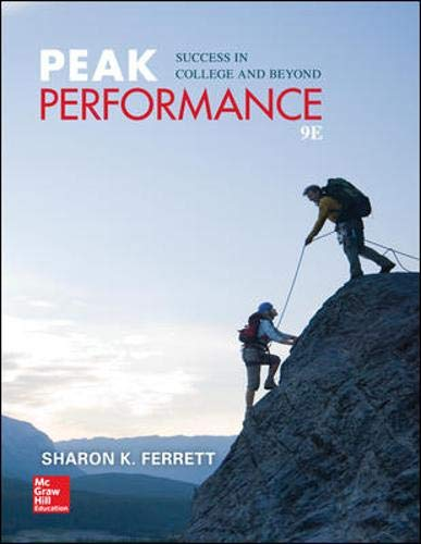 Peak Performance: Success in College and Beyond by McGraw-Hill/Irwin