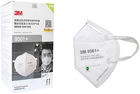 Mask Mouth 3m Respirator 50pcs 9501 Folding Protection Dust N95