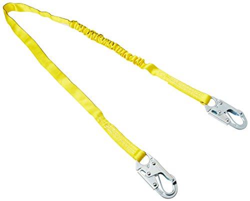 Miller Retractable Lanyard - Miller by Honeywell 216WLS/6FTYL 6-Feet Manyard Shock-Absorbing Web Lanyard with 2 Locking Snap Hooks, Yellow
