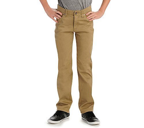 Lee Boys' Sport X-Treme Comfort Slim Jeans, Original Khaki, 16 Regular