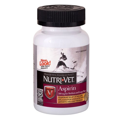 Nutri-Vet Aspirin for Medium / Large Dogs, Chewable, Liver 75 ea(Pack of 1)