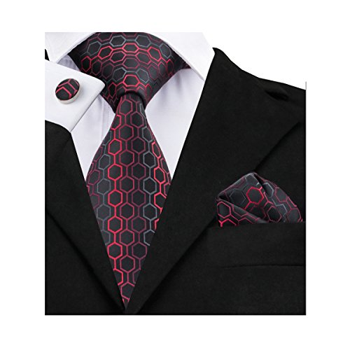 Barry Wang Black Necktie Handkerchief Cufflinks product image
