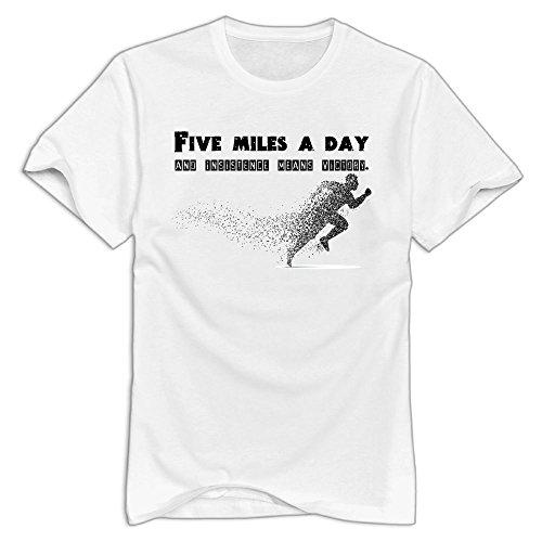 Price comparison product image Men's Lose Five Miles Cool T Shirt White Size XL