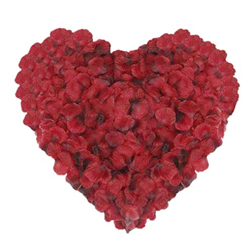 CATTREE Rose Petals, 3000 PCS Silk Artificial Petals Vase Home Decor Wedding Bridal Decoration Party Ceremony Wholesale (Red -