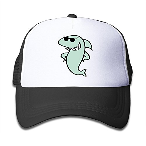 Shark Sunglasses Girl Trucker - Cartoon Shark With Sunglasses