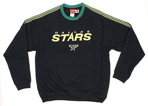 - NHL Dallas Stars Mens Reebok Fleece Crew, Black