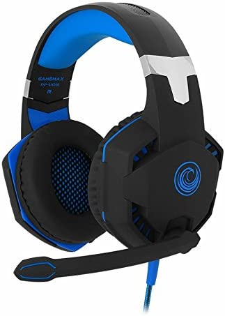 FHP-G1420B Comfortable Professional 7.1 Stereo Surround Sound Haptic Feedback Headphones w LED lighting, Boom Mic, In-Line Audio Controller USB Powered for Gaming Laptops or Computers