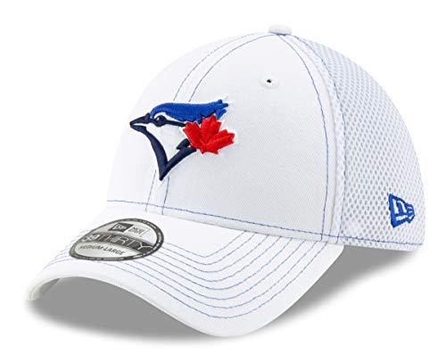 New Era Toronto Blue Jays MLB 39THIRTY White Team Neo Flex Fit Hat (Toronto Caps Blue Jays)