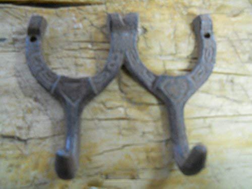 Lotus energy 6 Cast Iron Horseshoe Coat Hooks
