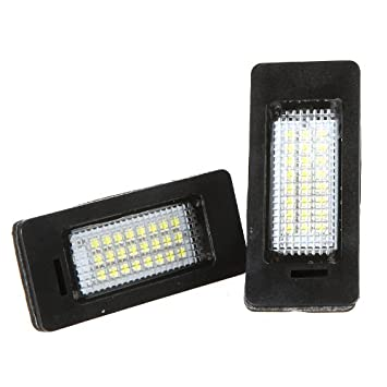 Amazoncom Docooler Pair 24 3528 LED License Plate Light Lamp for