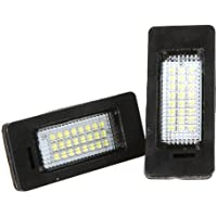 Docooler Pair 24 3528 LED License Plate Light Lamp for BMW E39 E60 E61 E90 5 Series