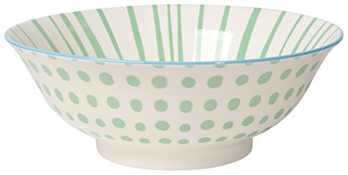 Jade Dots (Now Designs 8 inch Stamped Bowls, Set of 6, Jade Dots)
