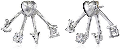 Betsey Johnson Love Front and Back Earrings Ear Cuffs