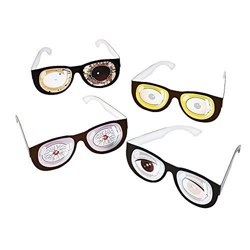 Zombie Glasses Cardboard (12 Pieces)Party Supplies/Toys/Halloween/Theme party/Favors/Costume by (Prizes To Give Away At Halloween Party)