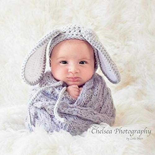 6e339ee4418 Amazon.com  Crochet Baby Floppy Bunny Rabbit Bonnet Hat Beanie Infant  Newborn Baby Easter Spring Handmade Photography Photo Prop Baby Shower Gift  Present  ...