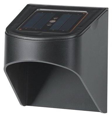 Jiawei Technology SL18P-R5-BK-2 Solar Stair Light, Black, 5-Lumen, 2-Pk. - Quantity 18 by JIAWEI TECHNOLOGY