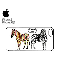 Zebra You Are Doing it Wrong At Mobile Cell Phone Case Cover iPhone 5&5s Black
