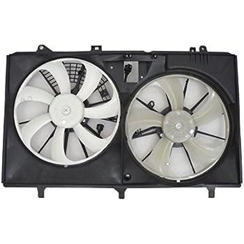Dual Radiator Condenser Fan Assembly For//Fit 06-12 Toyota RAV4 2.4//2.5L