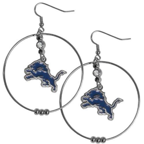 NFL Detroit Lions Hoop Earrings, 2-Inch