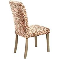 ACME Furniture 71909 Glassden Side Chair (Set of 2), Orange Fabric & Light Oak
