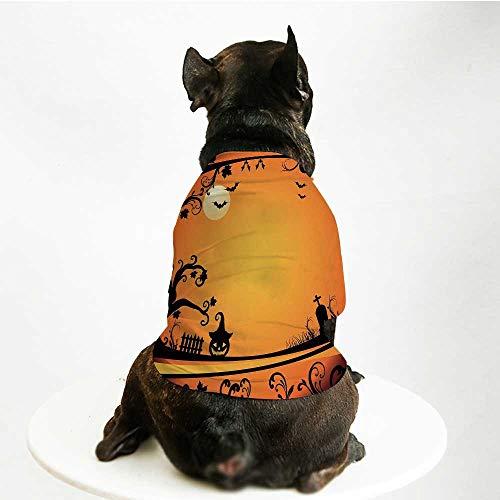 YOLIYANA Vintage Halloween Comfortable Pet Suit,Halloween Themed Image