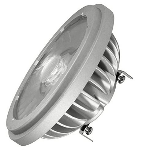 Dimmable LED 18.5W AR111 - 100W Equal - 30840 Candlepower - 9 Deg. Narrow Spot - G53 - 3000K Halogen White - Soraa 00893