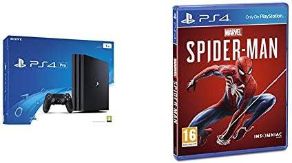 Sony PlayStation 4 Pro 1 TB (Black) + Marvels Spider-Man [Importación inglesa]: Amazon.es: Videojuegos